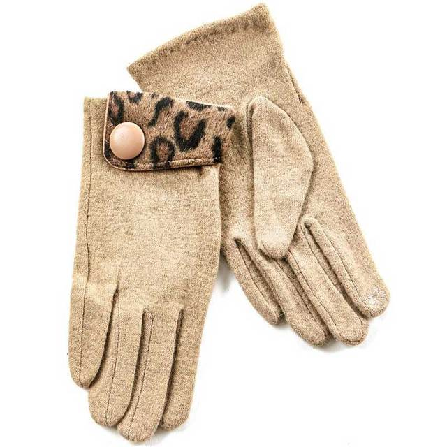 Gloves for women Verde 02-579 beige