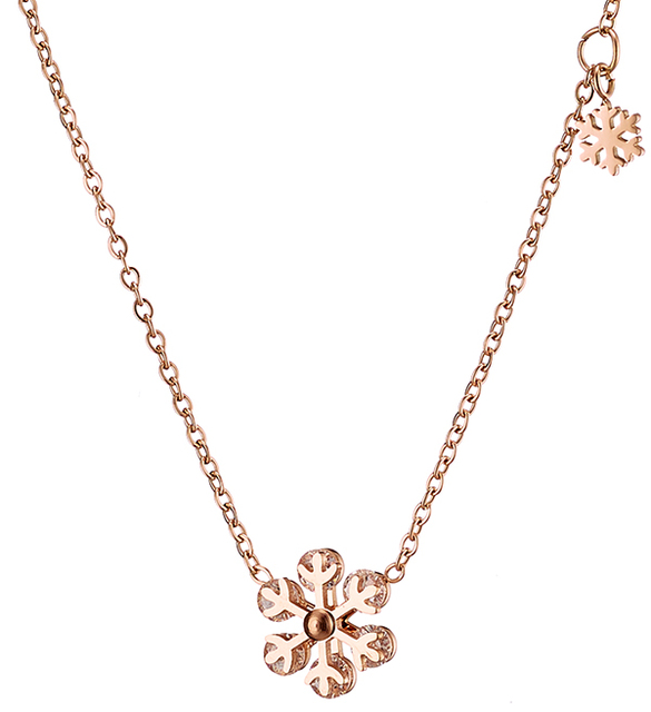 Womens necklace steel 316 L rose-gold