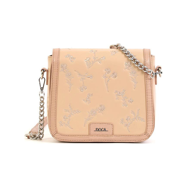 Cross body bag Doca 16015 beige