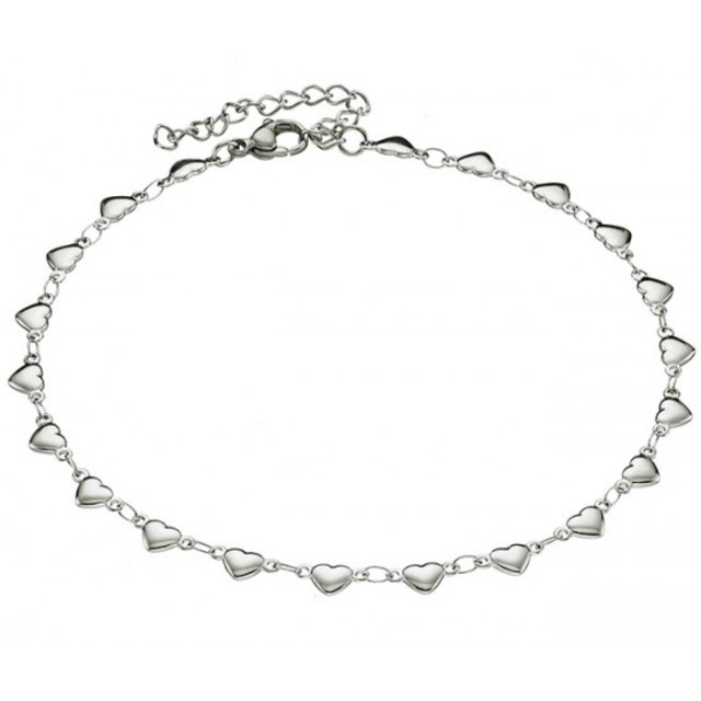 Steel 316L foot chain 316L silver