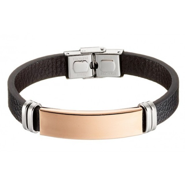 Men's steel bracelet 316L rose-gold