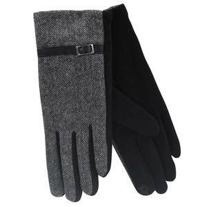 Gloves for women Verde 02-475 black/grey