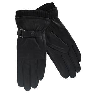 Gloves for women leather Verde 02-574 black