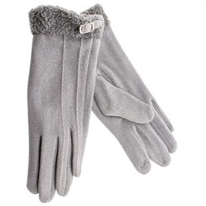 Gloves for women Verde 02-585  light grey