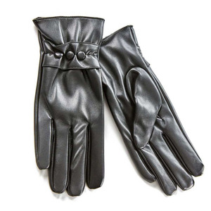 Gloves for women Verde 02-588 black