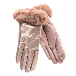 Gloves for women Verde 02-603 gold