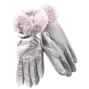 Gloves for women Verde 02-603 silver