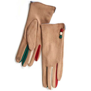 Gloves for women Verde 02-608 beige