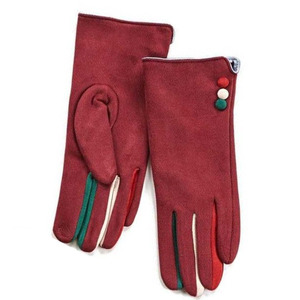 Gloves for women Verde 02-608 bordeaux