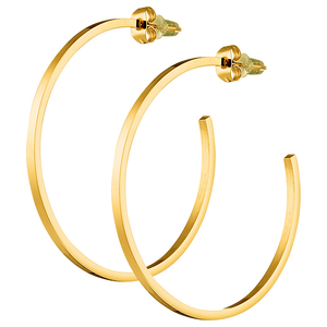 Women's earrings steel rings gold 4.5 cm