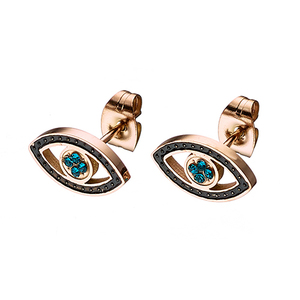 Women's earrings steel 316L rose-gold