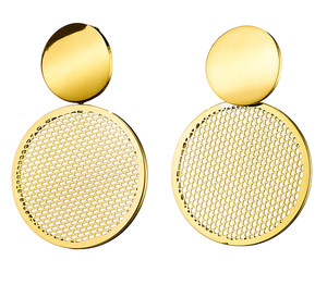 Steel earring 316L gold
