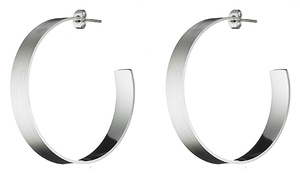 Women's earrings steel 316L rings silver
