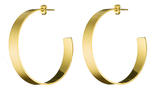 Women's earrings steel 316L rings gold