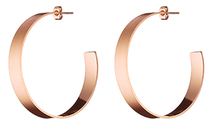 Women's earrings steel 316L rings rose-gold