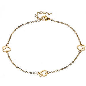 Steel 316L foot chain 316L gold