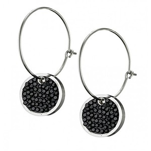 Women's earrings steel 316L silver