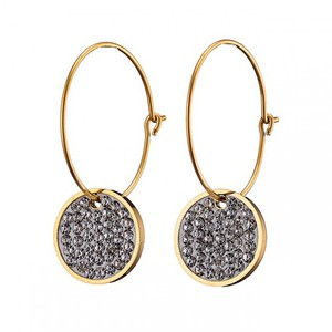 Women's earrings steel 316L gold