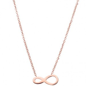 Womens necklace steel 316L rose-gold