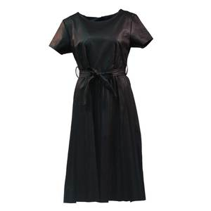 Women's pu leather dress midi bode 1561 black