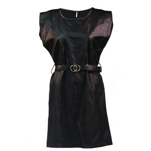 Women's pu leather dress bode 1571 black