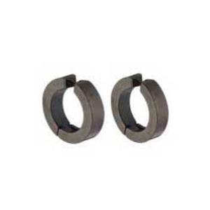 Unisex steel rings 316 without hole black