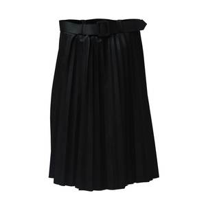 Women's skirt pu leather 1717 black