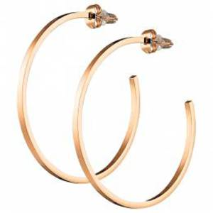 316L steel earring ring in rose- gold 4.5cm
