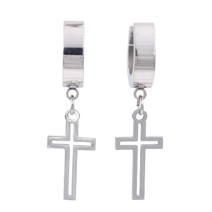 Unisex Earrings steel 316L silver