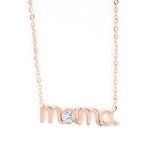 Womens necklace mama steel 316L rose-gold