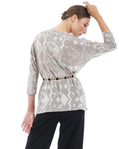 Blouse Doca 38474 grey